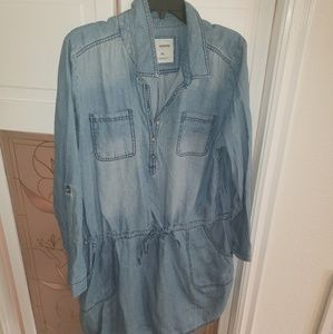 Women's Sonoma Denim Tunic Button Down XLarge